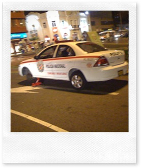 Policia sin rueda
